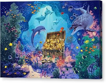 Ocean Grotto Canvas Print by Steve Read