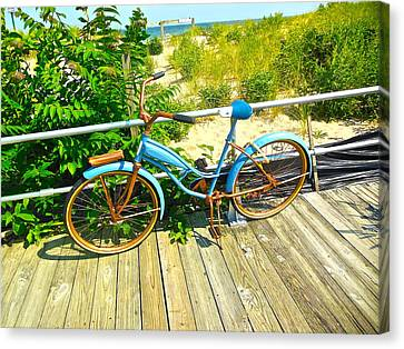 Canvas Print featuring the photograph Ocean Grove Bike by Joan Reese