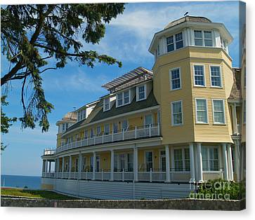 Ocean House Side View - Watch Hill Canvas Print by Anna Lisa Yoder