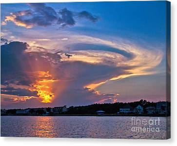 Canvas Print featuring the photograph Ocean Isle Sunset by Jemmy Archer