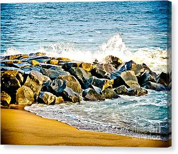 Ocean Jetty Canvas Print by Colleen Kammerer