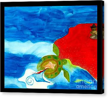 Turtle Shell Canvas Print - Ocean Jewels by Windsong Artworks