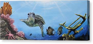 Ocean Life Canvas Print by Donna Tuten