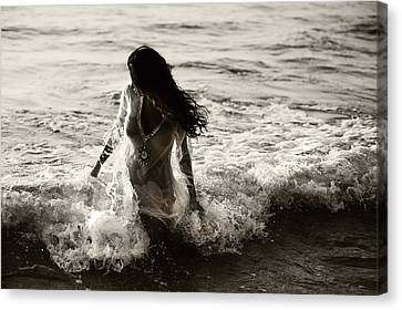 Ocean Mermaid Canvas Print by Jenny Rainbow