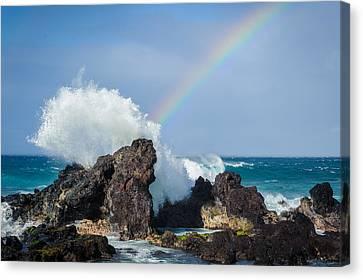 Ocean Rainbow Explosion Canvas Print by Jen Morrison