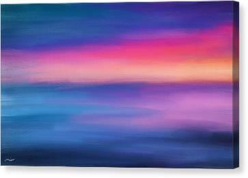 Ocean Rises Canvas Print by Lourry Legarde