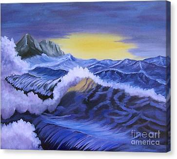 Stretched Cotton Canvas Print - Ocean Scene by Ruth  Housley