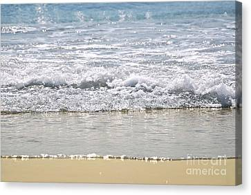 Ocean Shore With Sparkling Waves Canvas Print by Elena Elisseeva
