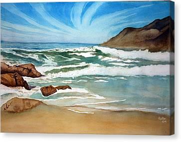 Ocean Side Canvas Print by Rick Huotari