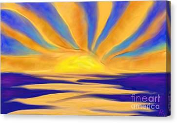 Ocean Sunrise Canvas Print by Anita Lewis
