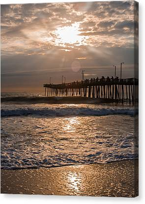 Canvas Print featuring the photograph Ocean Sunrise  by Dawn Romine