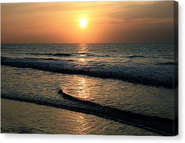 Ocean Sunrise Over Myrtle Beach Canvas Print