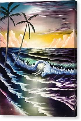 Ocean Sunset Canvas Print by Koko Elorm