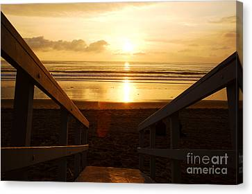 Ocean Sunset Canvas Print by Micah May