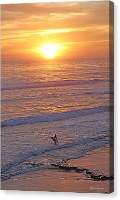 Ocean Sunset Surf  Canvas Print by Alex Khomoutov