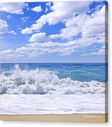 Crashing Canvas Print - Ocean Surf by Elena Elisseeva