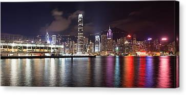 Ocean Terminal With Hong Kong City Skyline Canvas Print by JPLDesigns