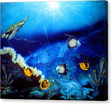Ocean Treasure  Canvas Print by Dan Townsend