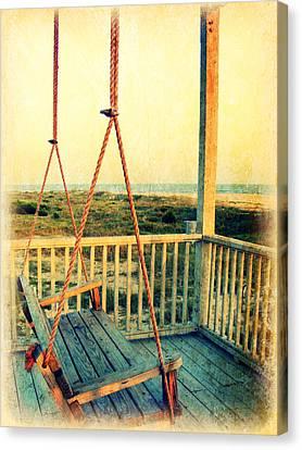 Ocean View At Oak Island 2 Canvas Print