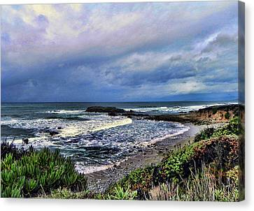 Canvas Print featuring the photograph Ocean View by Kathy Churchman