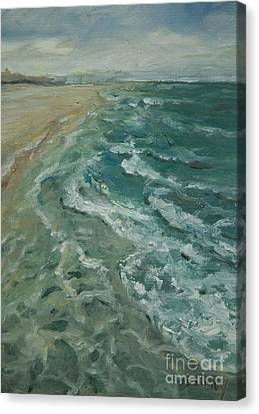 Ocean View Canvas Print by Sally Simon