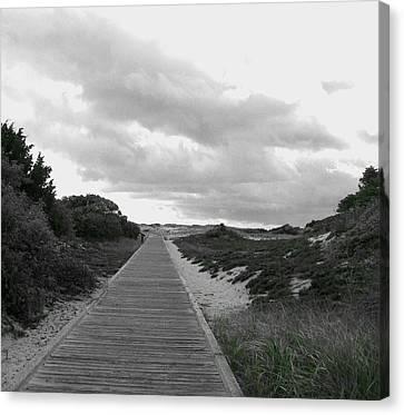 Canvas Print featuring the photograph Ocean Walk Island Beach State Park New Jersey by Pamela Hyde Wilson