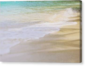 Canvas Print featuring the photograph Ocean Waves by Heather Green