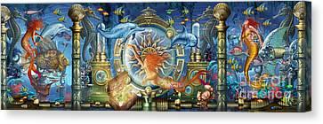 Oceana Triptych Canvas Print by Ciro Marchetti