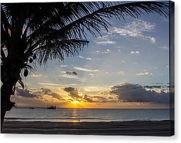 Oceanfront Park Sunrise 1 Canvas Print by Don Durfee