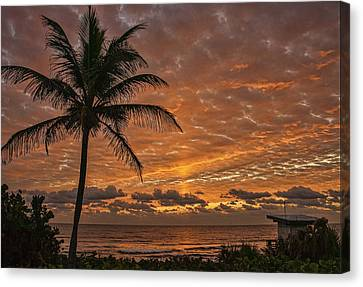 Oceanfront Park Sunrise 2 Canvas Print by Don Durfee