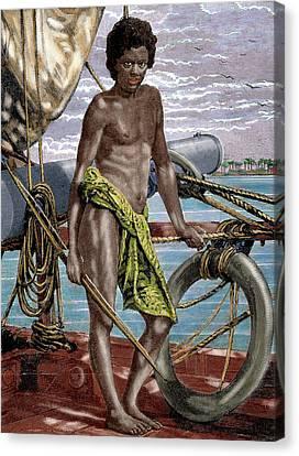 Oceania Micronesia Koror Native (palau Canvas Print by Prisma Archivo