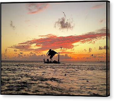 After A Long Life Canvas Print - Oceanlife At Sunset by Donna Cook