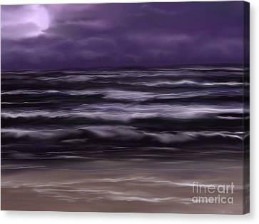 Ocean Night Canvas Print