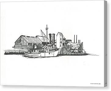 Oceanport Fish Factory Canvas Print