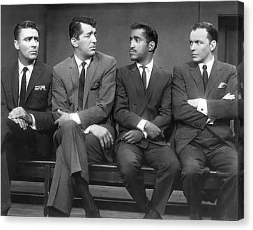 Black And White Canvas Print - Ocean's Eleven Rat Pack by Underwood Archives