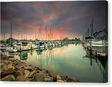Oceanside Harbor Sunrise Canvas Print