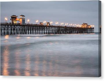 Canvas Print featuring the photograph Oceanside Pier 1 by Lee Kirchhevel