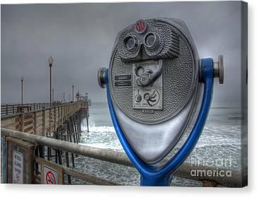 Oceanside Pier California Binocular Vision Canvas Print by Bob Christopher