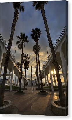 Oceanside Pier Entrance Canvas Print by Peter Tellone