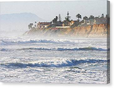 Canvas Print featuring the photograph Oceanside California by Tom Janca