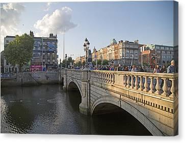 O'connell Bridge Dublin Ireland Canvas Print by Betsy Knapp