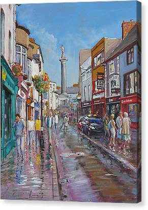 O'connell Street Ennis Co Clare Canvas Print by Tomas OMaoldomhnaigh