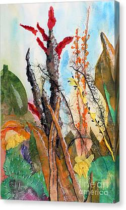 Ocotillo Collage Canvas Print