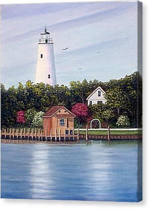 Ocracoke Island Light Canvas Print