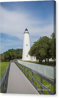 Ocracoke Lighthouse Canvas Print by Kay Pickens