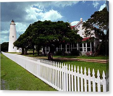 Canvas Print featuring the photograph Ocracoke Lighthouse by Tom Brickhouse