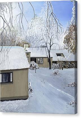 Oct Snow Storm Canvas Print by Stuart B Yaeger