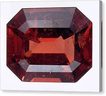 Octagonal Step-cut Spessartine Garnet Canvas Print