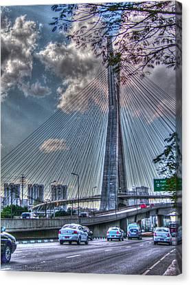 Canvas Print featuring the photograph Octavio Frias De Oliveira Bridge by Ross Henton