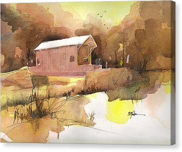 October 16th  Canvas Print by Robert Yonke